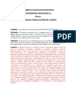 Documento constitutivo estatutos sociales