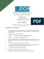 Dec 2012 (T3) Mathematics and Statistics