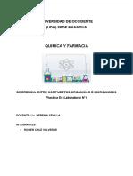 DIFERENCIA ENTRE COMPUESTOS ORGANICOS E INORGANICOS