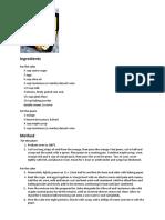 Cake Recipe - Olive Oil and Sauternes Cake