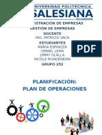 Gestion de Empresas Plan de Operaciones