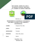 PRACTICA 1 Reconocimientos de Materiales e Instrumentos Para Medir y Estimar Altura