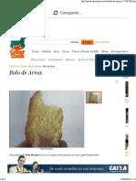 Bolo de Arroz - Receita CyberCook
