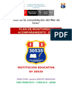 Plan de Supervision I.E 30535 -  2016