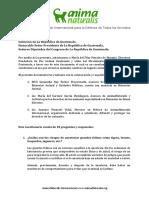 Concepto ANIMANATURALIS, Para Gobierno y Autoridades de Guatemala. Julio2013 - Oct2016.