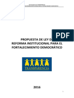 Propuesta de Ley de Reforma Institucional - AC Transparencia