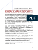 Reunión de Trabajo Con Comisiones Metropolitanas Edomex y Df