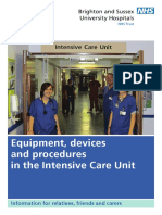 Equipment, Devices and Procedures in the Intensive Care Unit