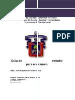 Guía de Estudio Para Examen