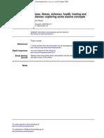 ReadingPart 1 - Disease, Illness, Sickness, Health, Healing and Wholeness