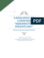 Catálogo de Cuentas de Abarrotes MAZATLAN