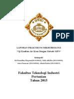Laporan Praktikum Mikrobiologi - Uji Air Kran Metode Mpn 2.2