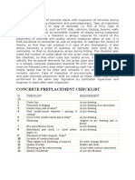 Concrete Checklist
