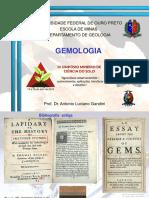 Mini Curso - Aspectos Gerais Da Gemologia - Antonio Gandini