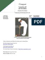 Croquet Rulebook