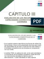 Evaluación de Recursos competitivos para la empresa