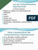 Luis Cap Características Del Comportamiento Organizacional