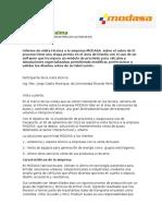 Informe Jorge Castro Manrique MODASA