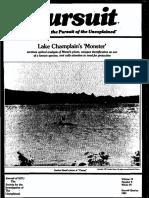 PURSUIT Newsletter No. 54, Second Quarter 1981 - Ivan T. Sanderson