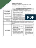 API 1104 Acceptance Crtieria