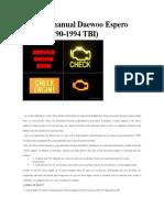 Escaner Manual Daewoo Espero OBD1