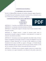 Constitución Politica de La República de Costa Rica