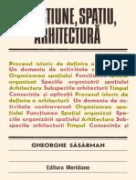 Functiune, Spatiu, Arhitectura (Gheorghe Sasarman)