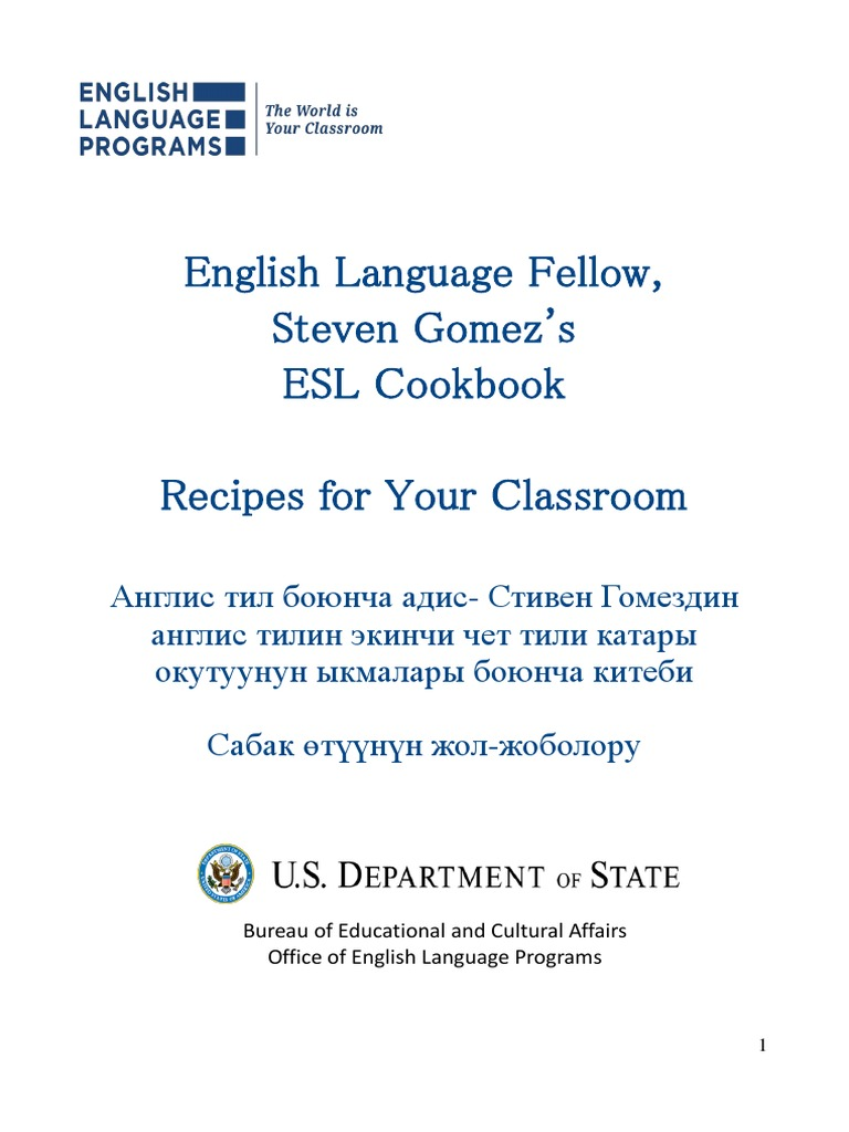 Steven's Esl Cookbook | Entertainment (General) | Languages