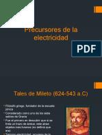 Precursores de La Electricidad