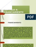 CAPÍTULO X Financiamiento
