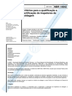 Nbr14842 Certificacao Inspetores Soldagem