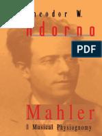 Theodor Adorno - Mahler