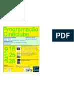 panfleto divulgação programação mensal cineclube junho 2010