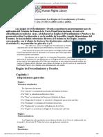La Corte Penal Internacional - Las Reglas de Procedimiento y Prueba