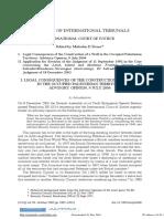 DECISIONS OF INTERNATIONAL TRIBUNALS