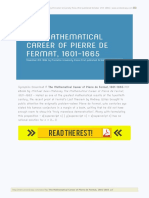 The Mathematical Career of Pierre de Fermat 1601 1665