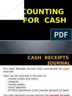 Summary of Cash Journals & Ledgers