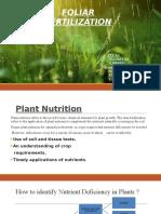 Foliar Fertilization