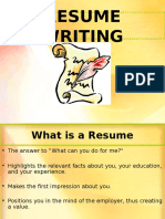 Guide for Resume