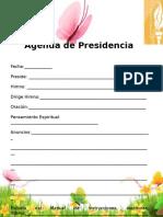 Agenda de Reunion de Presidencia