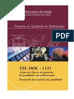 Programa de Qualidade Em Radioterapia - Ministerio Da Saude