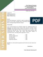 Aplication & CV Form 2
