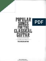 POPULAR SONGS for the Classical Guitar (Arr Zaradin) (Chitarra)