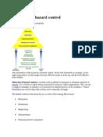Hierarchy of Hazard Control