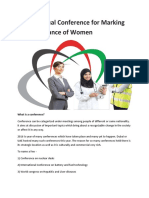 Dubai Annual Conference for Marking the Importance of Women