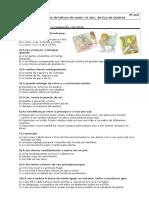 Ficha de verificação de leitura- A Aia