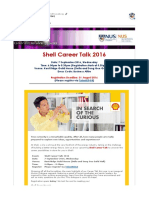 Shell Career Talk 2016 7 Sep 6pm
