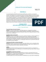Constitución Provincial Del Neuquen