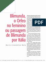 Blimunda, o Orfeo no feminino ou passagem de Blimunda por Itália