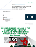 Implementing ISO9001 in the Construction Industry